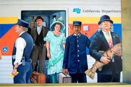 Amtrak station mural